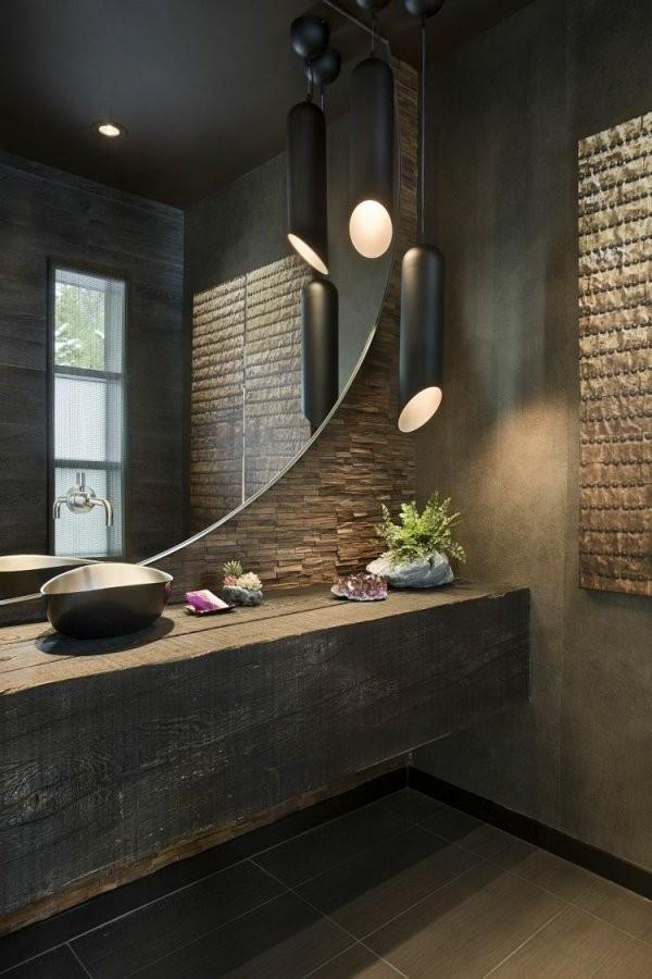 Einen Waschtisch Können Sie Auch Aus Einem Einfachen Holzbalken von Waschtisch Holz Mit Aufsatzwaschbecken Bild