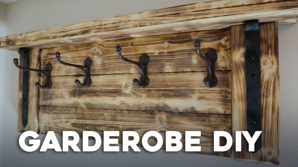 Einfach Garderobe Selber Bauen  D I Y  Youtube von Holz Garderobe Selber Machen Bild