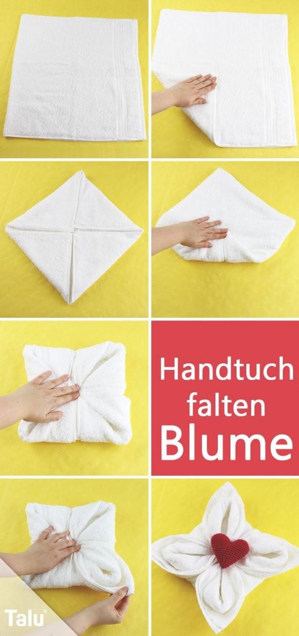 Einfach Genial Handtücher Falten Wie Im Hotel  Haushaltstipps von Servietten Falten Blume Anleitung Bild