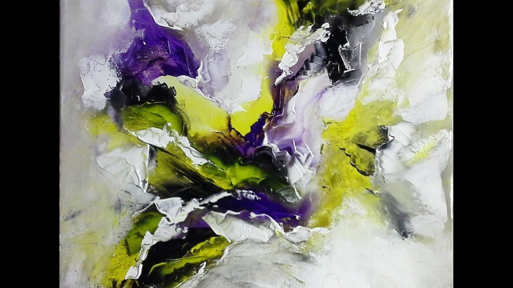 Einfach Malenabstrakte Malerei Spachteltechnik  V6  Youtube von Abstrakte Acrylbilder Selber Malen Photo