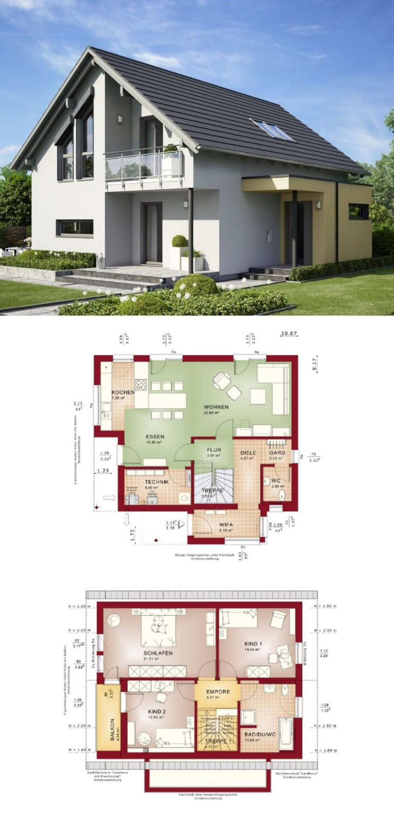 Einfamilienhaus Edition 1 V6 Bien Zenker  Haus Bauen Grundriss von Bien Zenker Edition 1 Photo