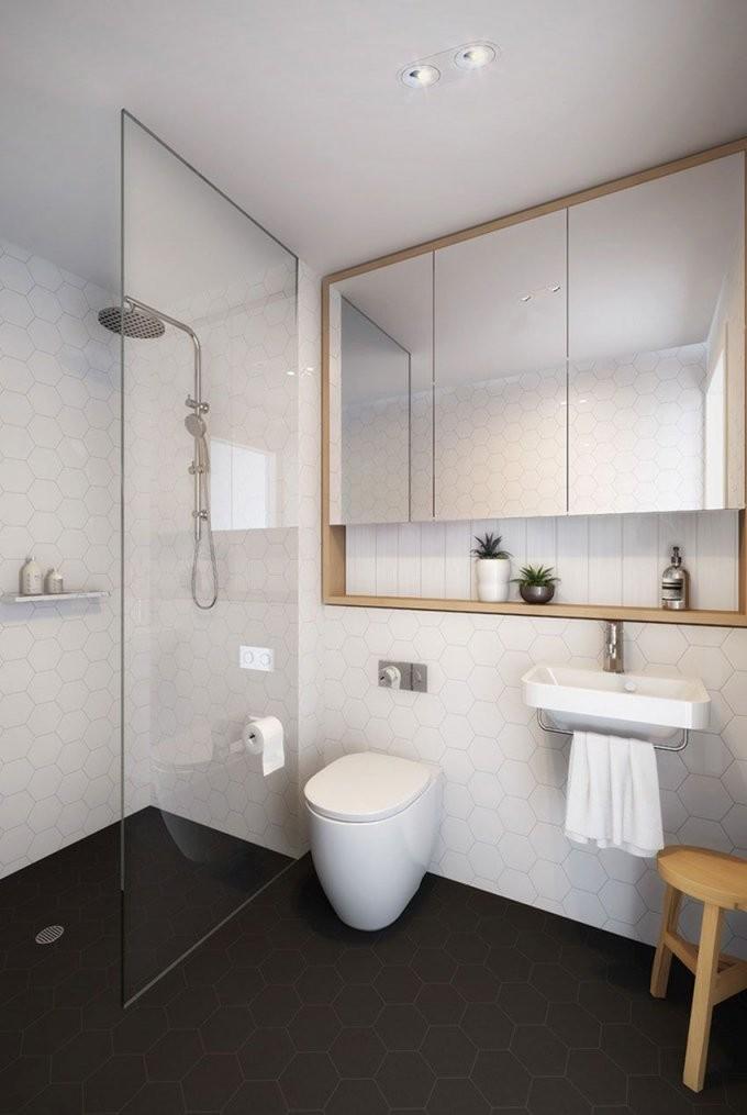 Eingebauter Spiegelschrank  Kleines Bad  Badezimmer von Spiegelschrank Für Kleines Bad Photo