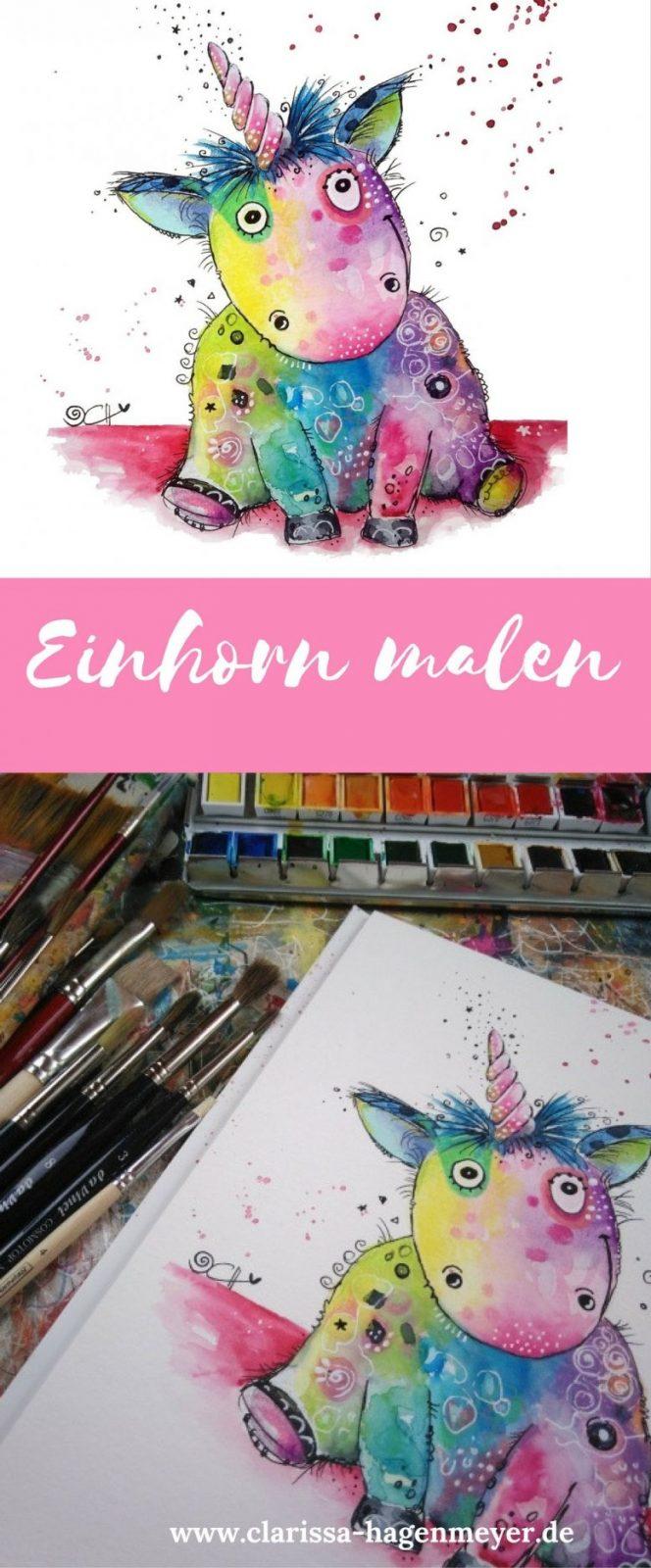 Einhorn Malen Eine Einfache Anleitung Für Dich Für Ein Fröhliches von Acrylbilder Für Anfänger Anleitung Photo