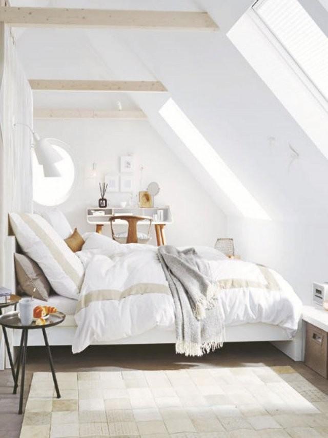 Einrichtungsideen Zimmer Mit Schrgen  Ziakia  Bedroom Ideas von Einrichtungsideen Schlafzimmer Mit Dachschräge Bild