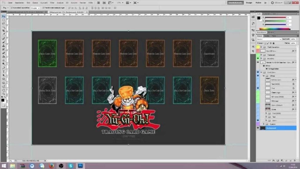 Einsteigertutorial Yugioh Spielmatte Mit Photoshop Designen von Yugioh Karten Selbst Erstellen Photo
