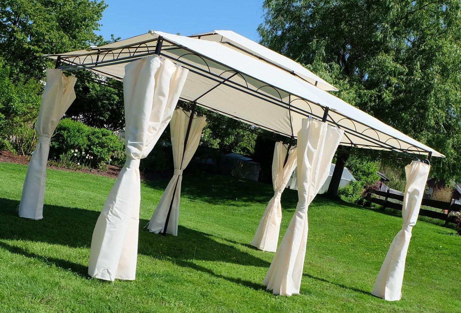 Eleganter Garten  Pavillon 3X4 Meter Dach 100% Wasserdicht Uv30+ von Ersatzdach Pavillon 3X4 Wasserdicht Bild