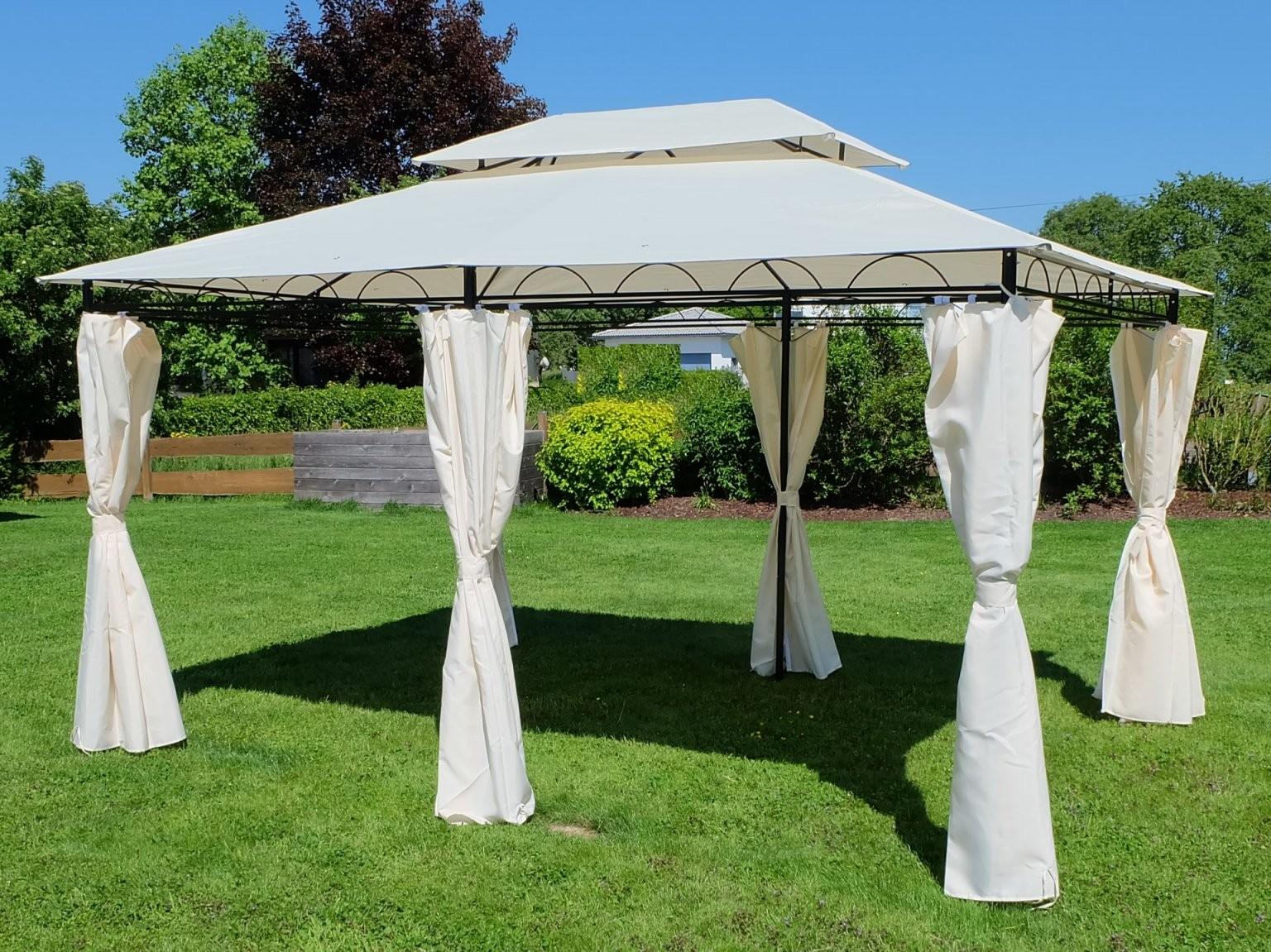 Eleganter Garten  Pavillon 3X4 Meter Dach 100% Wasserdicht Uv30+ von Ersatzdach Pavillon 3X4 Wasserdicht Photo