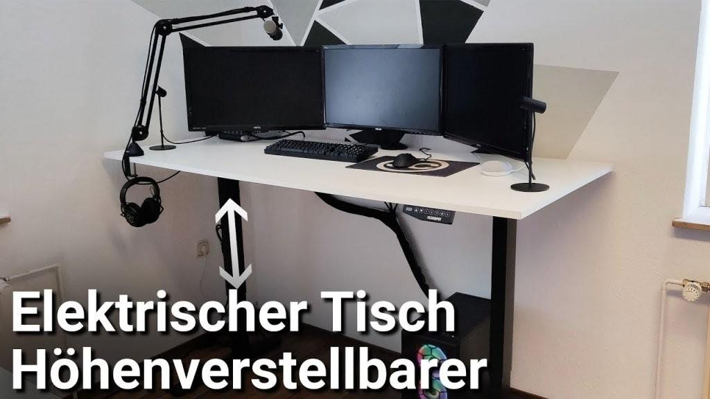 Elektrisch Höhenverstellbarer Schreibtisch Bauen + Kabelmanagement von Höhenverstellbarer Schreibtisch Selber Bauen Bild