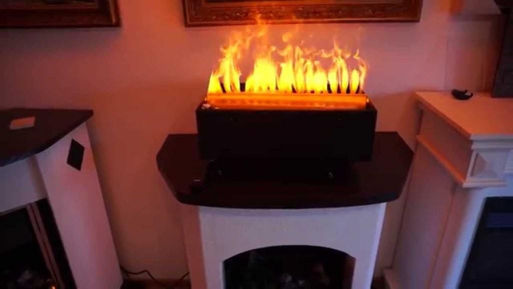 Elektroholzfeuer E 2850 S 50Cm Breit Mit 3D Wasserdampf Von von 3D Elektrokamine Mit Wasserdampf Bild