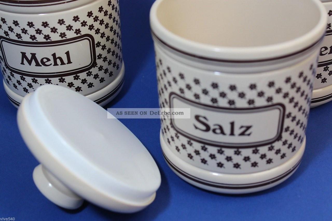 Emsa 3 Vorratsdosen Mehl Salz Zucker Plastik Vintage Designklassiker von Vorratsdosen Mehl Zucker Salz Keramik Bild