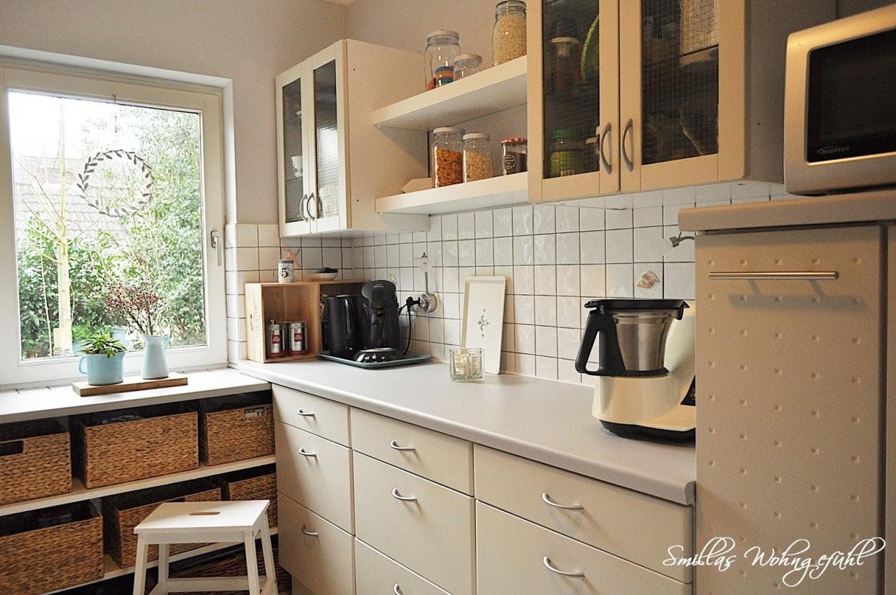 Endlich Neue Alte Küche Mit Kreidefarbe  Smillas Wohngefühl von Küchenfronten Lackieren Vorher Nachher Photo