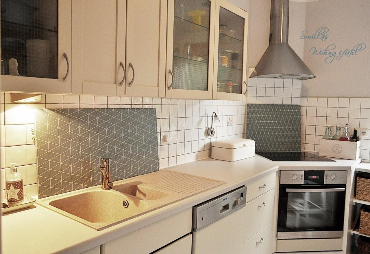Endlich Neue Alte Küche Mit Kreidefarbe  Smillas Wohngefühl von Küchenmöbel Streichen Vorher Nachher Photo