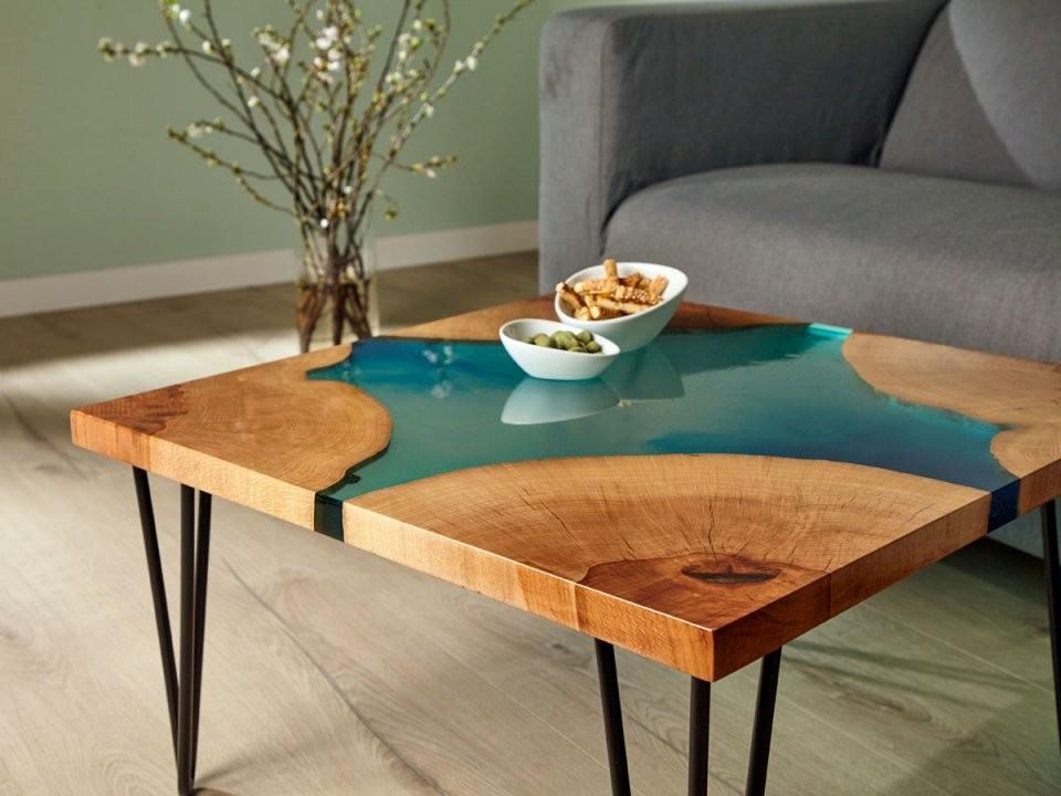 Epoxidharztisch Selber Bauen Gratisanleitung von Alten Tisch Neu Gestalten Bild