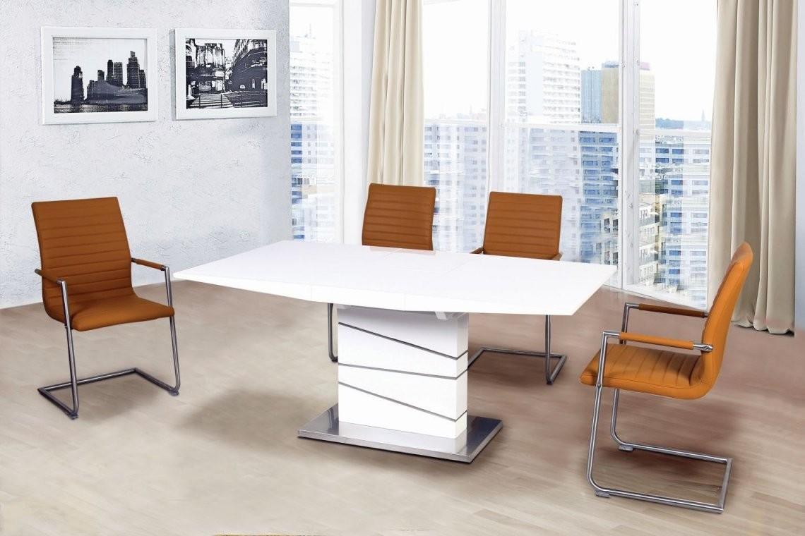 Esstisch Ausziehbar Daures 64 (Eckig) Farbe Weiß Hochglanz von Esstisch Ausziehbar Weiß Hochglanz 140 Photo