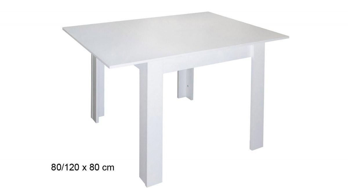 Esstisch Bull Küchentisch In Weiß Matt Ausziehbar 80X80 Cm von Esstisch Weiß Hochglanz 80X80 Ausziehbar Photo