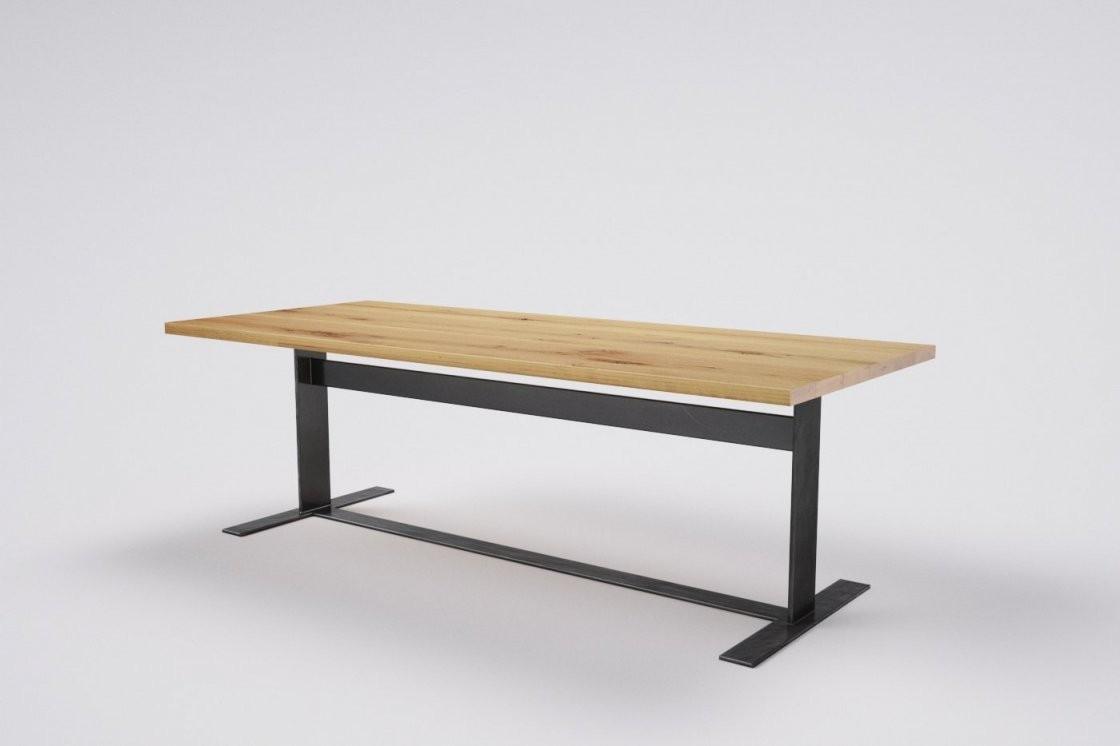 Esstisch Massivholz Eiche Metallgestell  Wohnsektion von Tisch Mit Metallgestell Und Holzplatte Photo