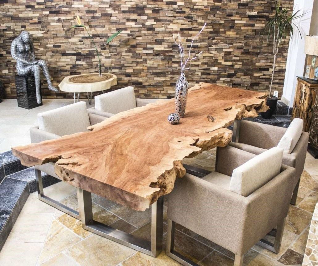 Esstisch  Zündend Baumscheibe Ausführung Bezaubernd Design Aus von Tisch Baumscheibe Selber Bauen Bild