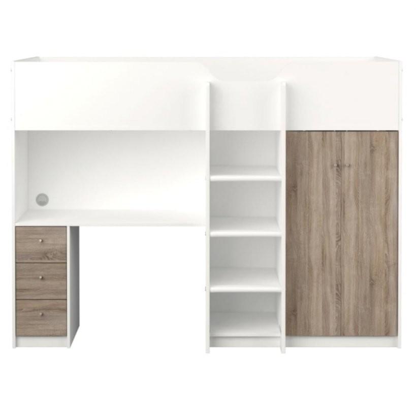 Etagenbett Irma 90X200 Mit Schreibtisch Und Schrank  Real von Schrank Mit Integriertem Schreibtisch Bild