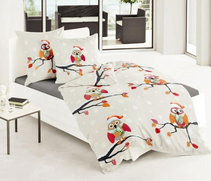 Eulen Bettwäsche Günstig Online Kaufen  Real von Bettwäsche Eule 155X220 Photo