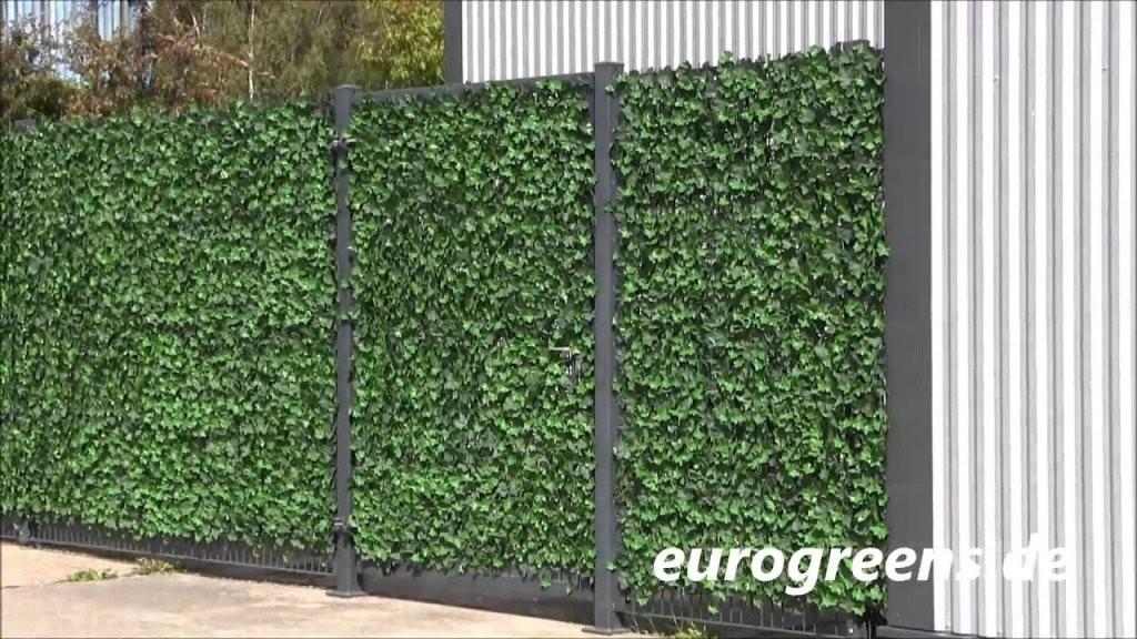 Eurogreens Kunstpflanzen Efeuhecke  Youtube von Efeu Sichtschutz Selber Machen Photo