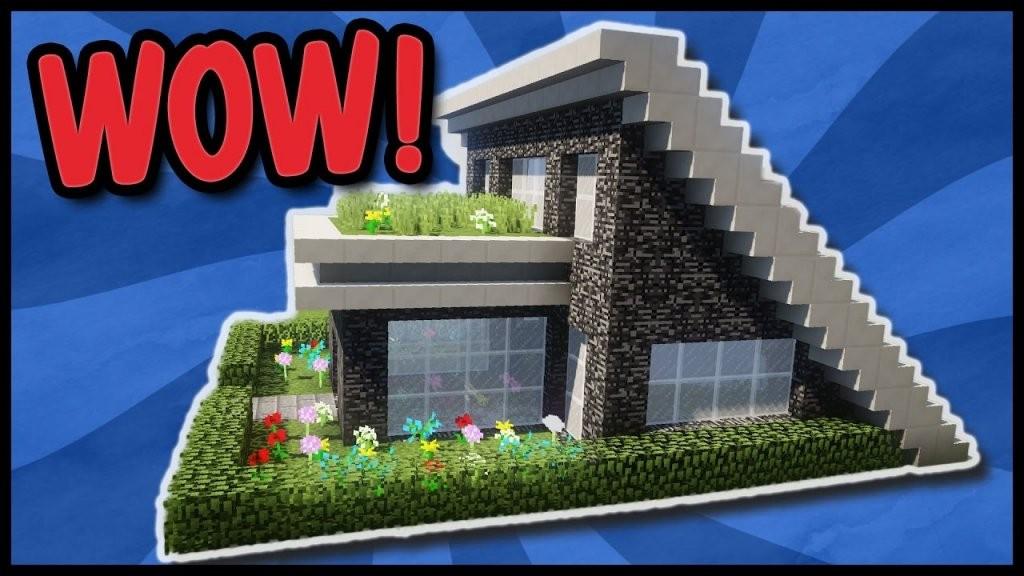 🍕modernes Minecraft Haus Zum Nachbauen  Minecraft Haus Ideen von Minecraft Haus Bauen Plan Bild