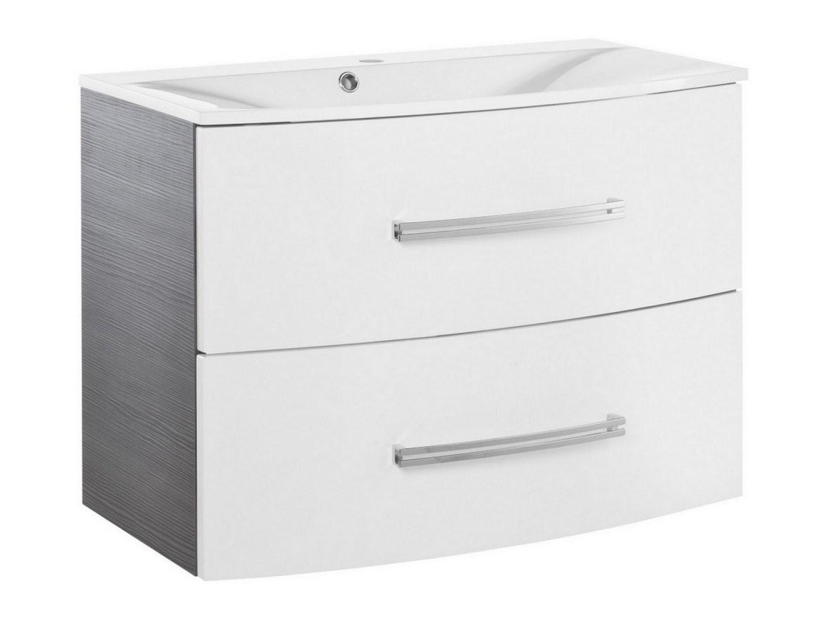 Fackelmann Lugano Waschtischunterschrank In Weißpinie Anthraz von Waschtisch Mit Unterschrank 70 Cm Breit Bild