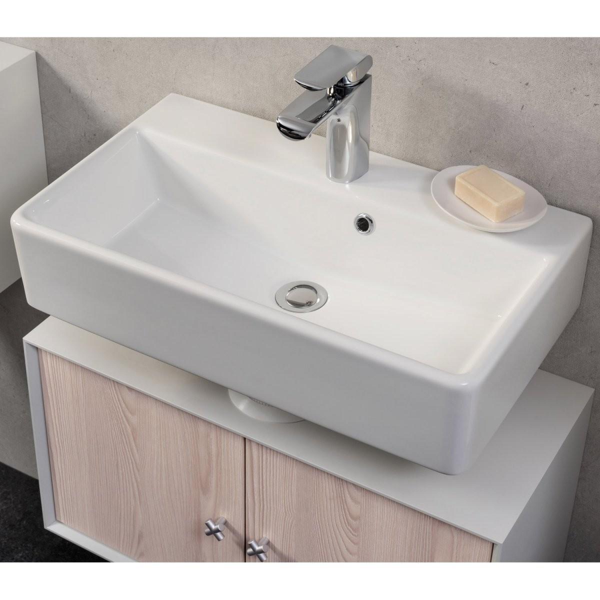 Fackelmann Waschbecken 60 Cm Ix Weiß Kaufen Bei Obi von Waschbecken Tiefe 35 Cm Photo