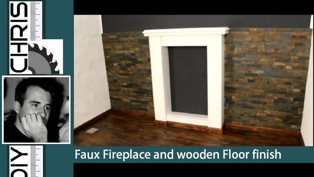 Fake Fireplace And Wooden Floor Finish (Dekokamin Bauen)  Youtube von Dekokamin Selber Bauen Anleitung Photo