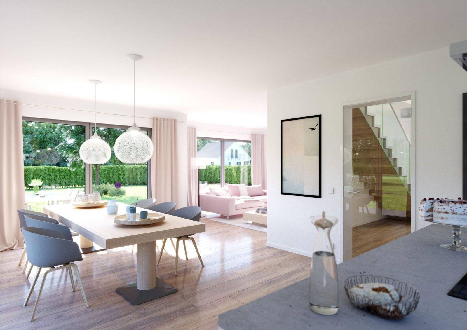 Familienhäuser  Saxli  Kern Haus Familienhaus Und Wohn Esszimmer von Moderne Wohnzimmer Mit Offener Küche Photo
