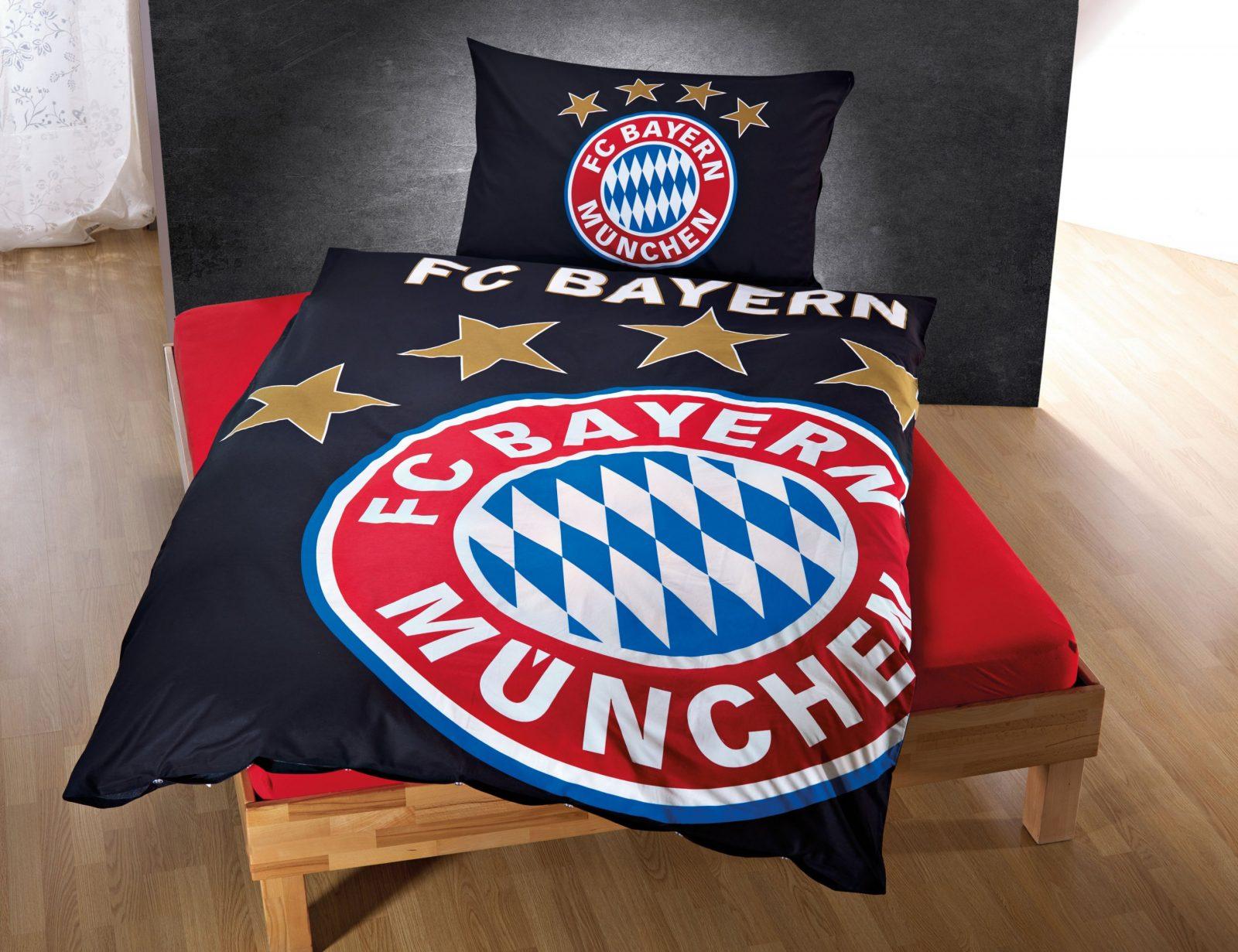 Fc Bayern München Bettwäsche Leuchtet Im Dunkeln Günstig ⋆ Lehner von Bayern München Bettwäsche Biber Bild