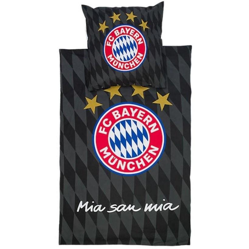 Fc Bayern München Bettwäsche Schwarz Bettwäsche  Real von Bayern München Bettwäsche Biber Bild