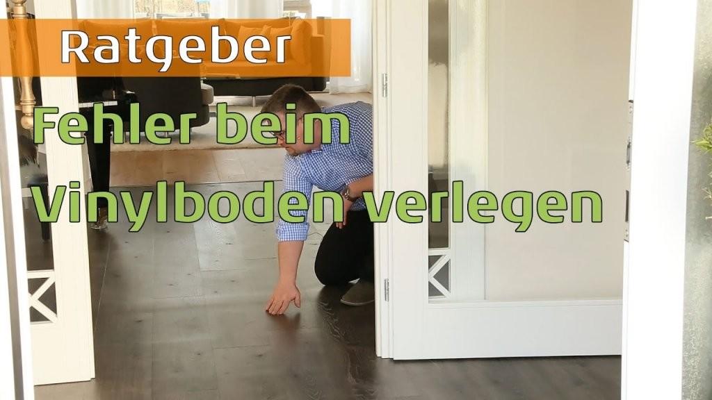 Fehler Bei Verlegung Von Vinylboden Auf Fliesen  Youtube von Vinylboden Auf Fliesen Mit Fussbodenheizung Verlegen Bild