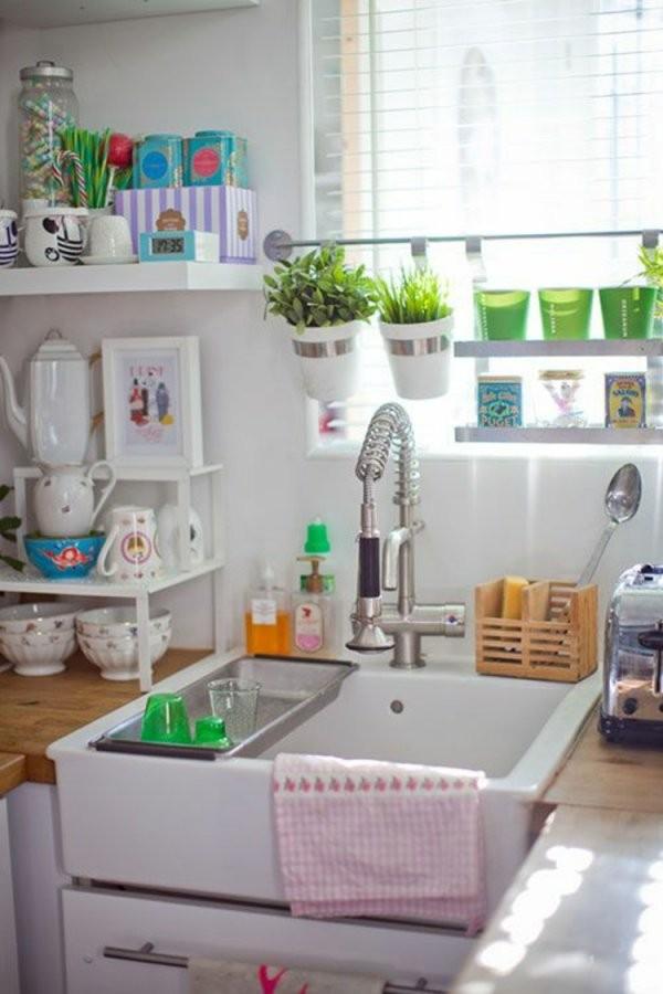 Fensterdeko Für Die Küche  26 Fensterbank Deko Ideen von Dekoration Für Die Küche Bild