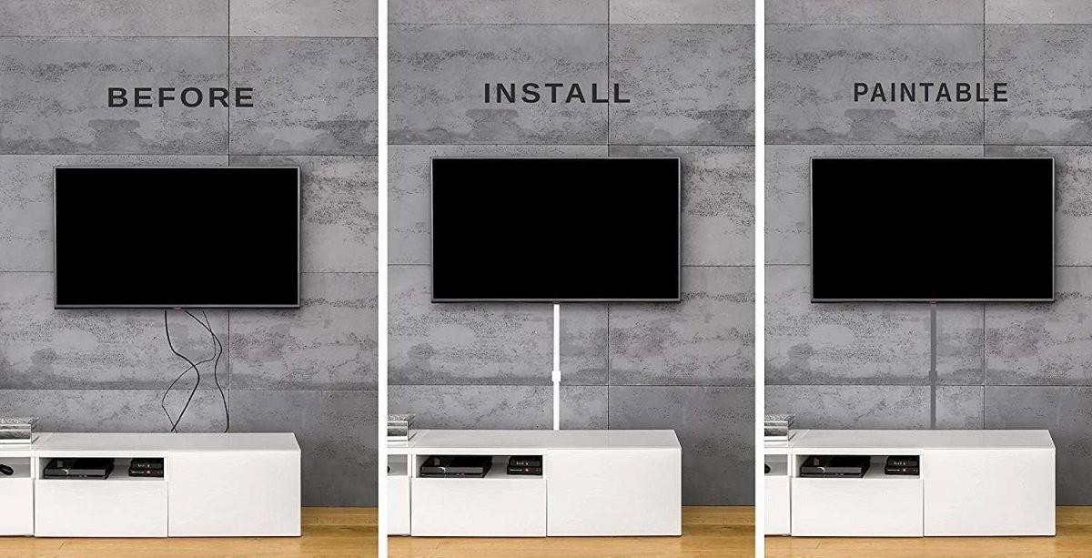 Fernseher An Wand Kabel Verstecken  Steensrunningclub von Tv An Wand Kabel Verstecken Bild