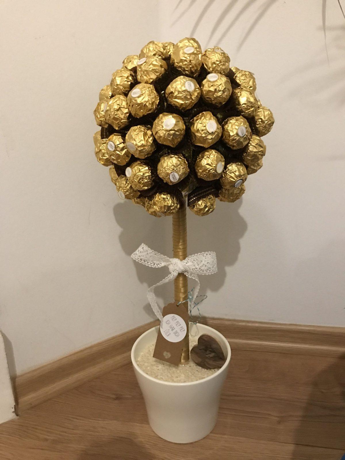Ferrero Rocher Baum Selber Basteln Perfekt Für Geburtstag Oder Zur von Rocher Baum Basteln Anleitung Photo