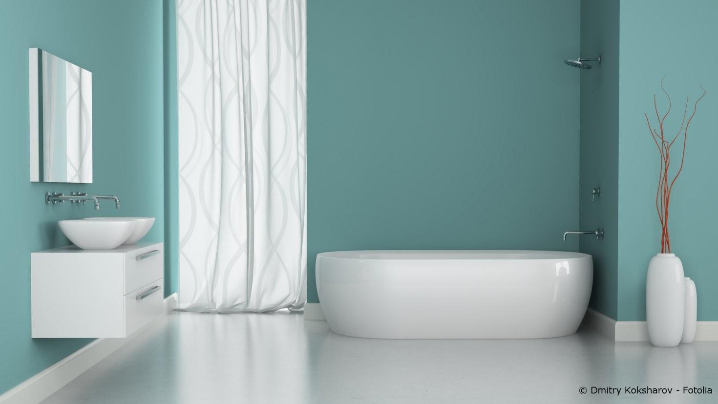 Feuchtigkeitsschutz Im Bad  Streichen Oder Tapezieren  Maler Und von Wasserfeste Tapete Fürs Bad Bild