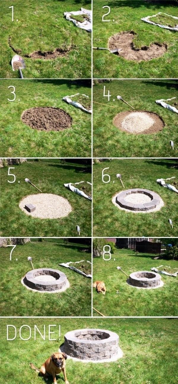 Feuerstelle Im Garten Bauen  49 Ideen Und Bilder Als Inspirationen von Garten Feuerstelle Selber Bauen Photo