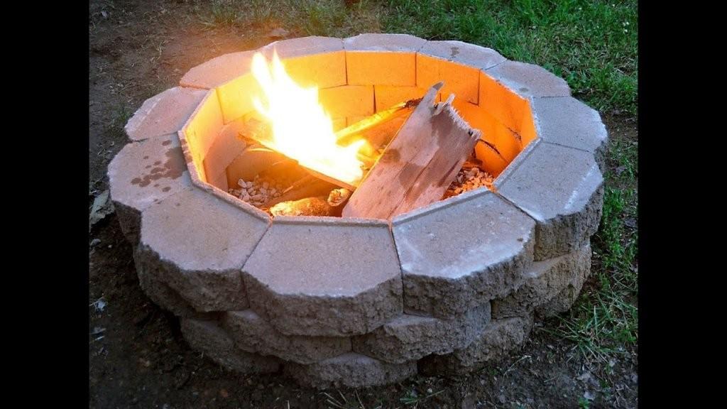Feuerstelle Im Garten Selber Bauen Diy Feuerstelle Im Garten  Youtube von Offene Feuerstelle Garten Selber Bauen Bild