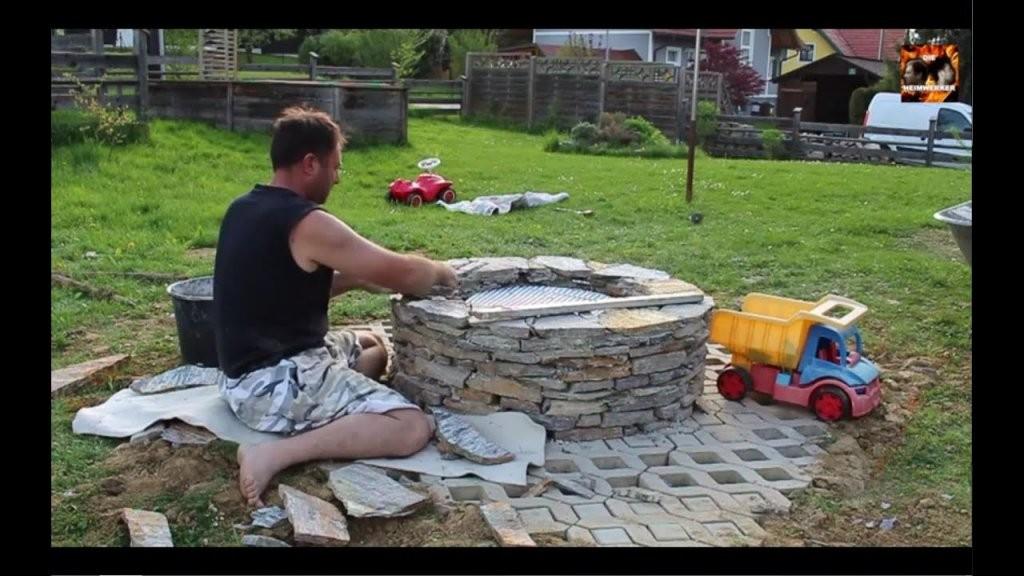 Feuerstelle Selber Bauen  Youtube von Garten Feuerstelle Selber Bauen Photo