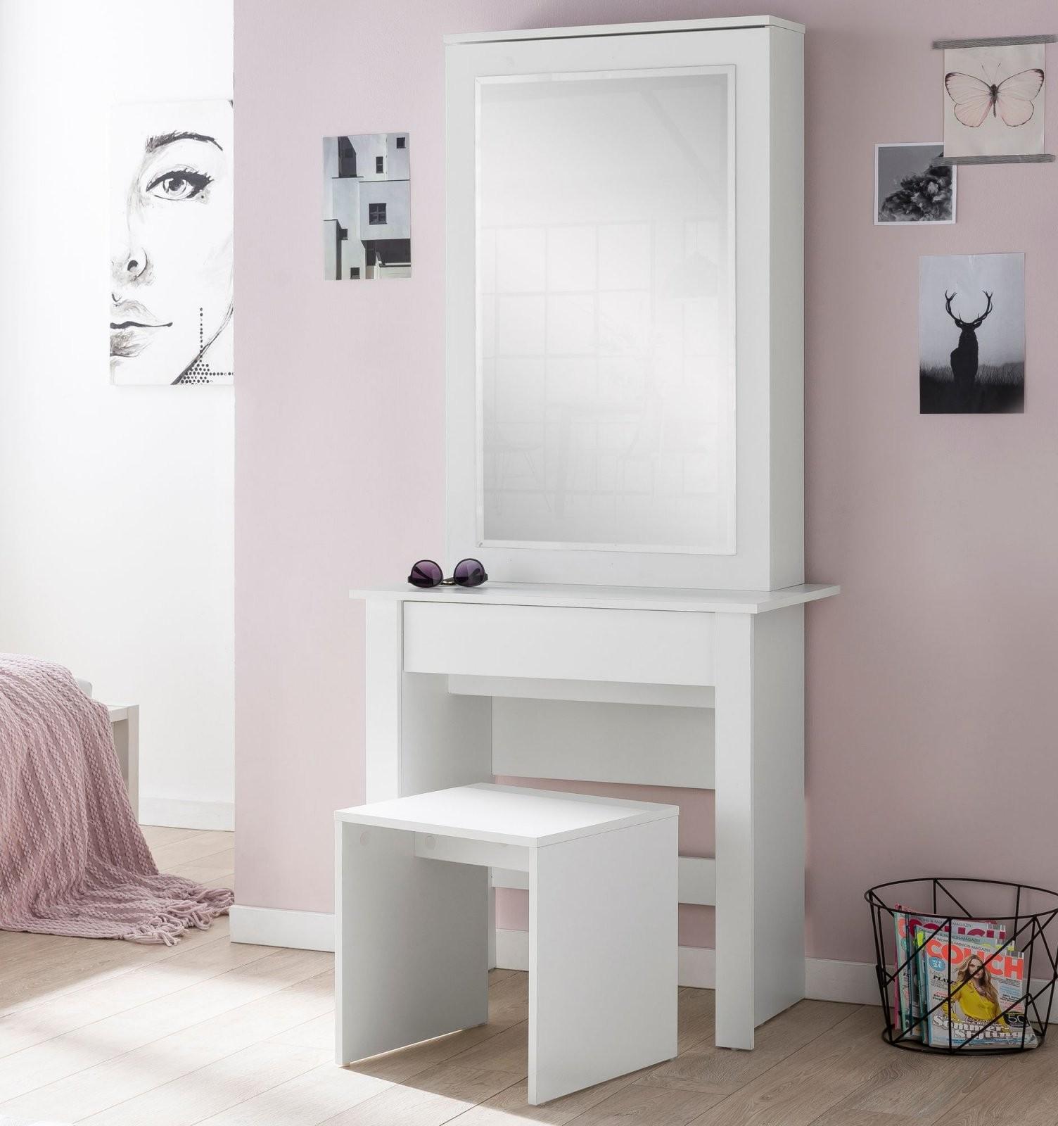 Finebuy Schminktisch Fb51640 73X170X40 Cm Weiß Konsolentisch Holz von Schminktisch Modern Mit Spiegel Photo