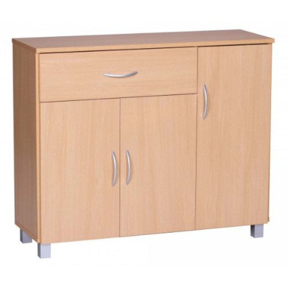 Finebuy Sideboard 1 Schublade 3 Türen 90 Cm Breit 75 Cm Hoch 30 Cm von Anrichte 30 Cm Tief Bild