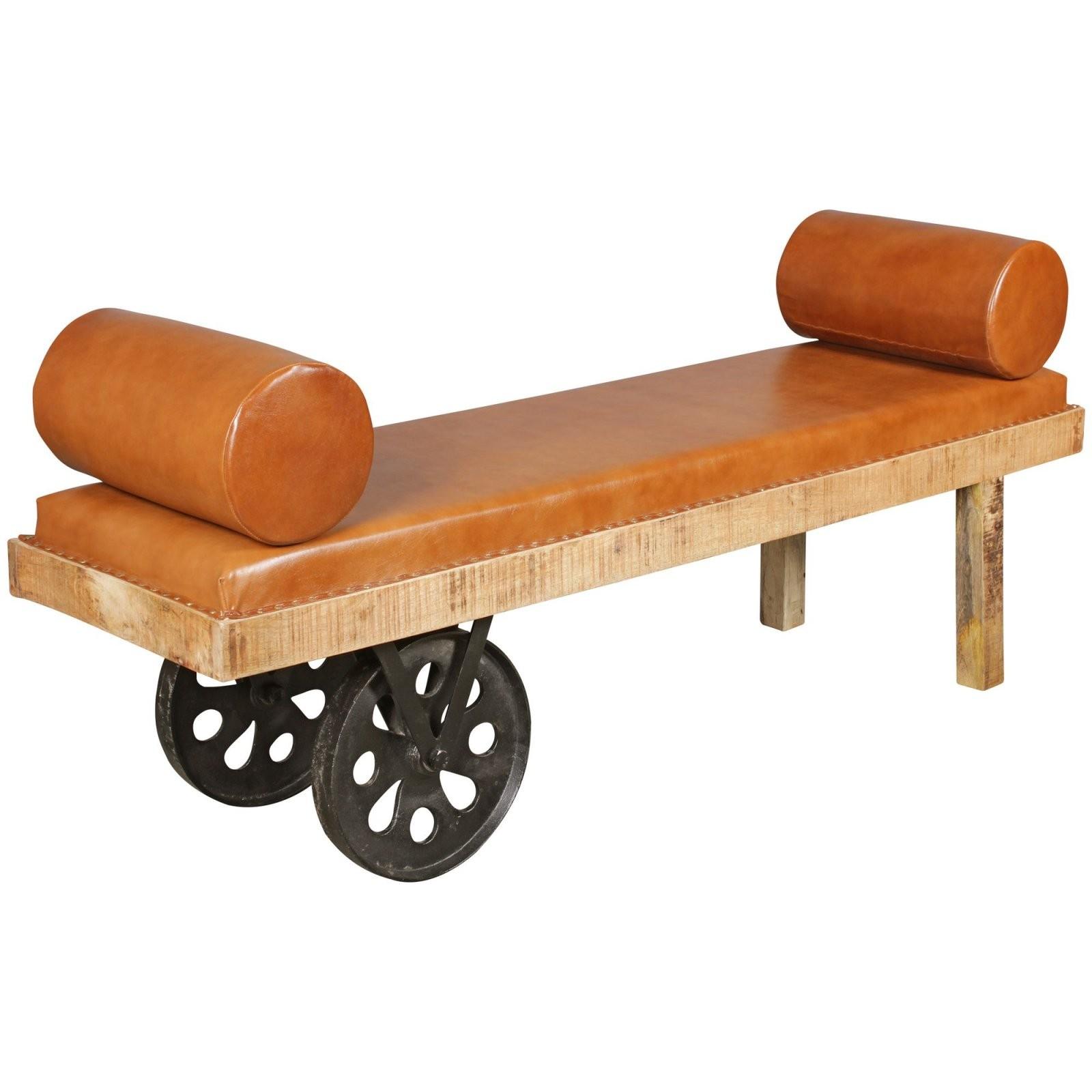 Finebuy Sitzbank Fb51393 Gepolstert 178X76X50 Cm Holzbank Mango von Esszimmerbank Mit Lehne Holz Bild