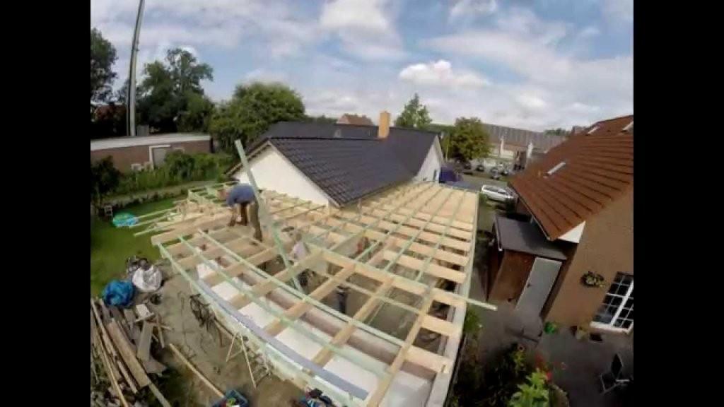 Flachdach Errichten Auf Meiner Garage (Zeitraffer)  Youtube von Pultdach Garage Selber Bauen Photo