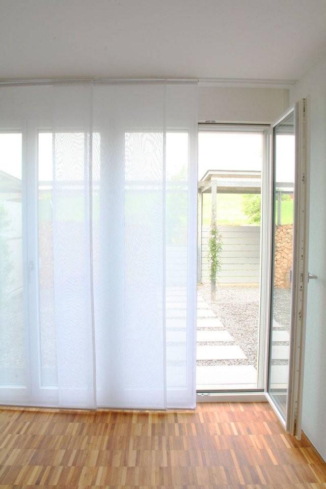 Flächenvorhang Transparent [Weiss 60Cm80Cm120Cm Breit von Schiebegardinen 80 Cm Breit Bild