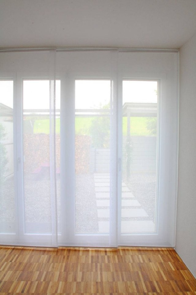 Flächenvorhang Transparent [Weiss 60Cm80Cm120Cm Breit von Schiebegardinen 80 Cm Breit Photo