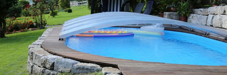 Flexiroof Poolüberdachung Poolabdeckung Schwimmbadüberdachung von Poolabdeckung Winter Selber Bauen Wie Bild