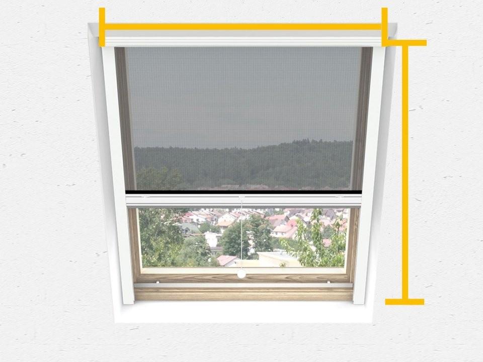 Fliegengitterdachfenster  Insektenschutz Für Dachfenster von Velux Dachfenster Plissee Ohne Bohren Photo