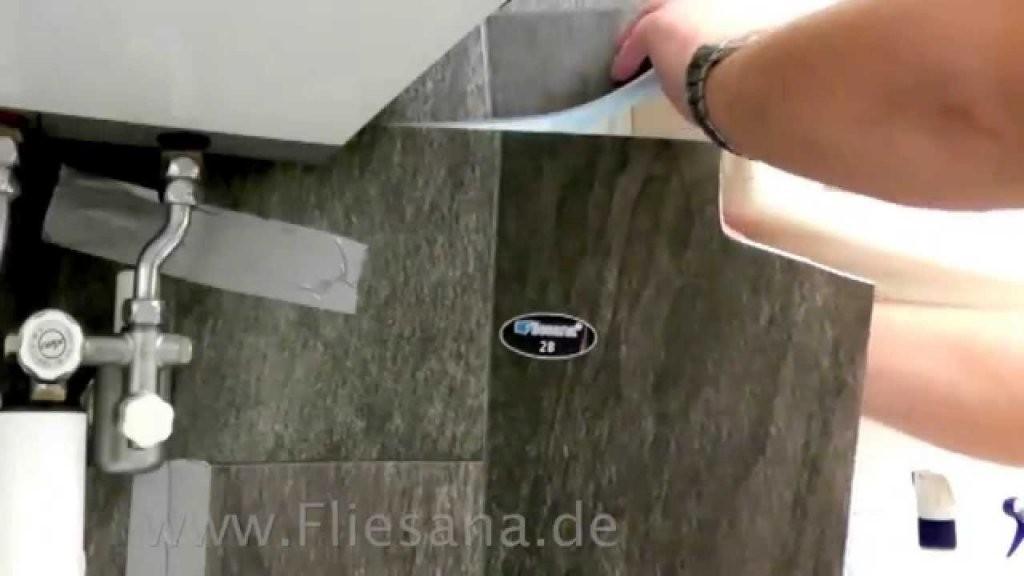 Fliesen Verlegen Mit Fliesana  Wandfliesen Verlegung Bad  Einfach von Vinyl Fliesen Selbstklebend Verlegen Bild