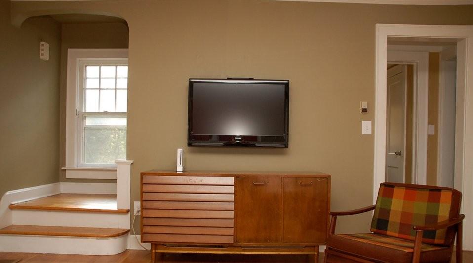 Fortschritt  Tvwandhalterungen Wie Kommt Der Flachbildfernseher von Fernseher An Die Wand Hängen Kabel Verstecken Bild