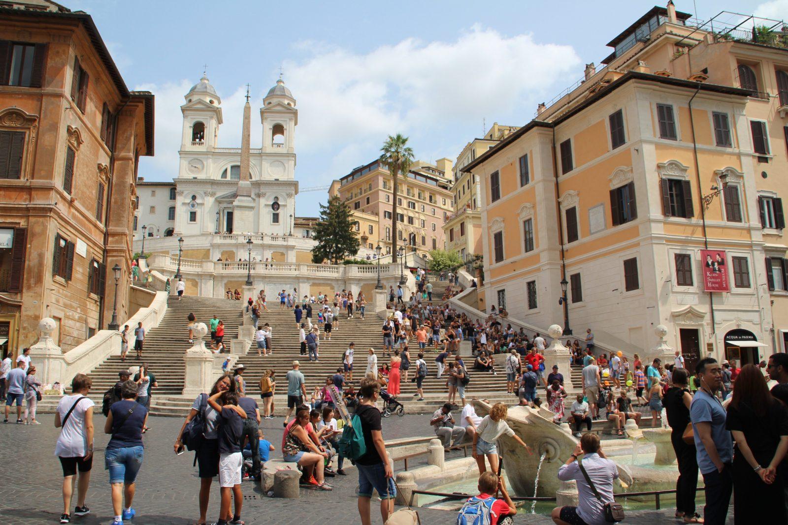Forza Roma Ein Langes Wochenende In Rom  Woiczik von Spanische Treppe Rom Gesperrt Photo